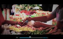 Local food at a farmers' market in Kawartha Lakes