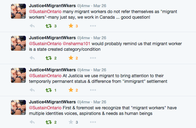 Justicia Twitter conversation
