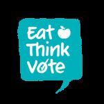 FSC logo election Eat-Think-Vote-blue