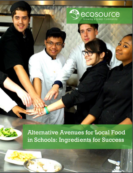"Cover of Ecosource's ""Alternative Avenues for Local Food in Schools"" Report"