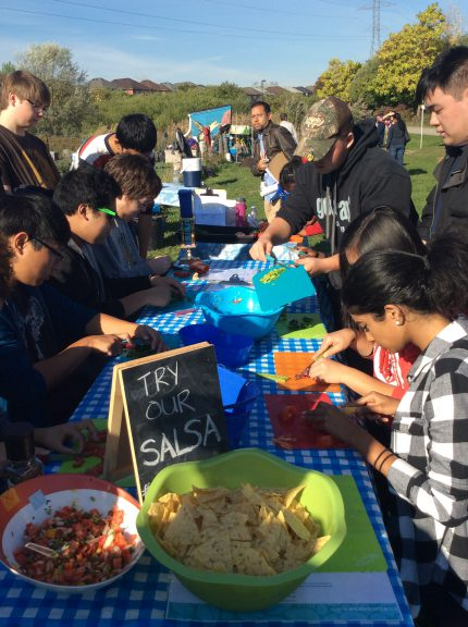 Schools attended Ecosource's Harvest Celebration in the Iceland Teaching Garden where they planted garlic, toured the garden made fresh salsa with garden fresh herbs and tomatoes and participated in a raffle!