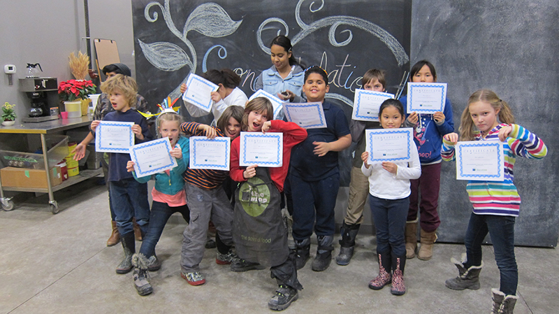 Graduating The Stop CFC's food literacy-building after school program. Credit: The Stop CFC.